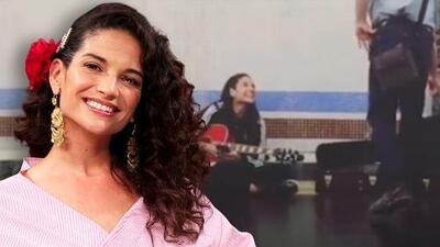 """Natalia Jiménez no pudo resistir cantar en el metro con su guitarra y se ganó unos """"euritos"""" como cuando empezaba"""