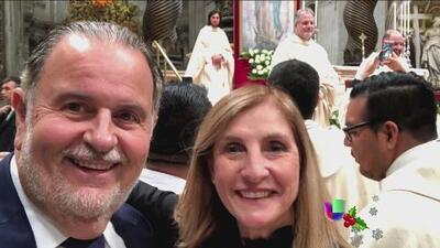 Raúl de Molina y su esposa asistieron a la misa en honor a la Virgen de Guadalupe en el Vaticano
