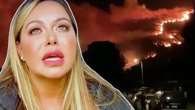 Chiquis Rivera pide oraciones porque los incendios de California están muy cerca de su casa