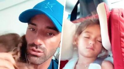 """Toni Costa está """"loquitamente enamorado"""" de una bella durmiente: su inseparable hija Alaïa"""