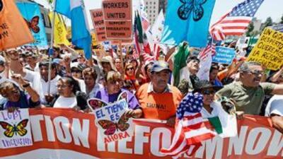 Marcha por la reforma migratoria en Los Angeles