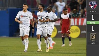 Carlos Vela falló un penalti pero se reivindicó anotando el gol del empate en suelo texano