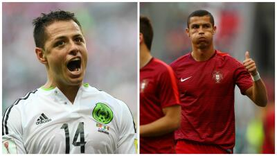 Chicharito vs. Ronaldo: Cara a cara