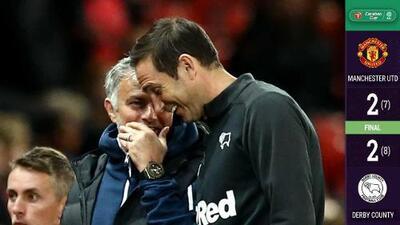 El Derby County de Frank Lampard eliminó al Man Utd de Mourinho en la Carabao Cup