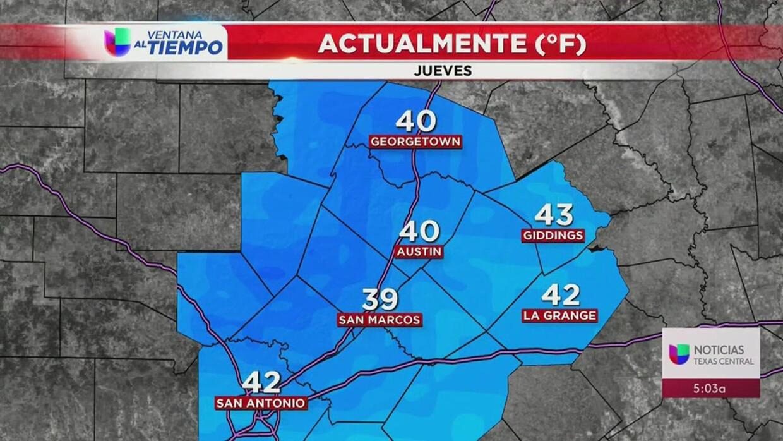 ¡Tenga su abrigo listo! Sigue el frío en San Antonio - Univision