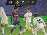 Real Madrid se lleva el Clásico y es líder momentáneo