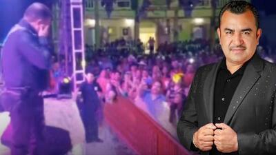Vocalista del Conjunto Primavera pierde la voz en pleno concierto y llorando pide perdón al público