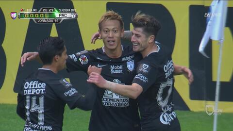 Con un tiro violento, Keisuke Honda abre el marcador en el Cuauhtémoc