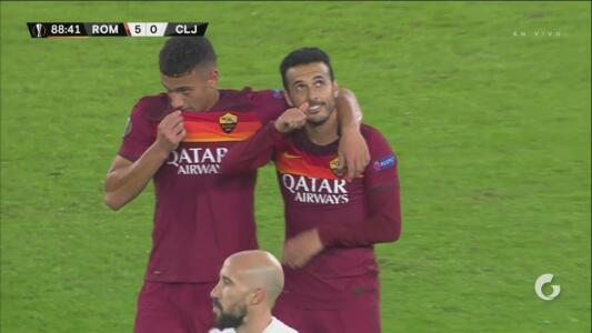 ¡Como en las épocas del Barça! Pedro Rodríguez hace el 5-0 de Roma