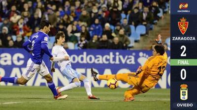 Oswaldo Alanís falló un penal en derrota del Real Oviedo ante el Zaragoza