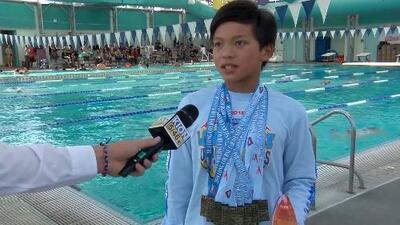 Conoce al 'superman' de 10 años que arrebató un récord a Michael Phelps