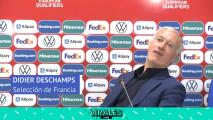 Deschamps corta conferencia por culpa de Benzema