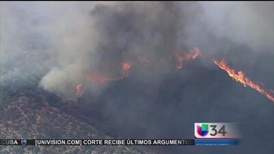 Tres incendios forestales en sur de CA