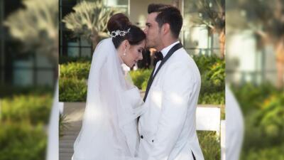 Brandon Peniche celebró su primer aniversario de bodas y compartió una romántica foto