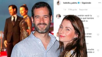 Esposo de Ludwika Paleta se sorprende cuando le dicen que la actriz ya no publica fotos con él en Instagram