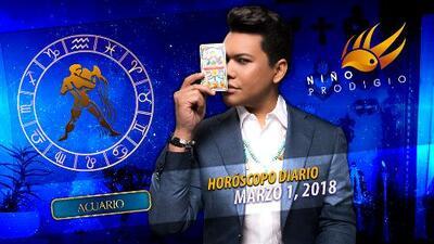 Niño Prodigio - Acuario 1 de marzo 2018
