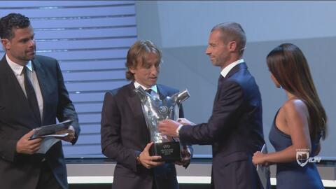 ¡Sorpresa! Luka Modric fue elegido a mejor jugador de la UEFA sobre Cristiano Ronaldo y Mohamed Salah