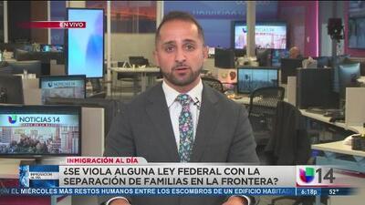 ¿Se viola alguna ley con la separación de familias en la frontera?
