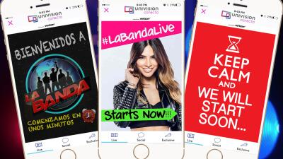 La Banda, a show that was 100% digital. The big star: Univision Conecta