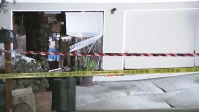 El derrumbe parcial de una vivienda sembró el pánico en un vecindario del sur de Pasadena, California