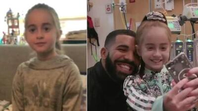 Deseos cumplidos: pudo conocer a Drake y ahora esta niña tiene un nuevo corazón