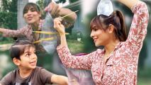 ¿Quién salió empapado? Alejandra Espinoza y Matteo nos enseñan cómo se divierten en época de coronavirus