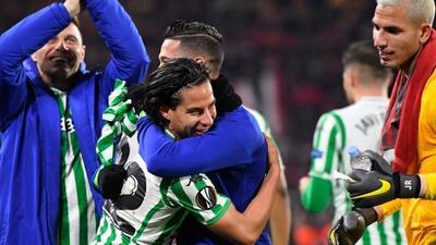 Diego Lainez, feliz por el resultado y por el gol que marcó con el Betis