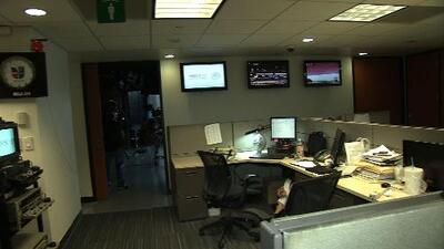 Imágenes del temblor en las oficinas de Univision México