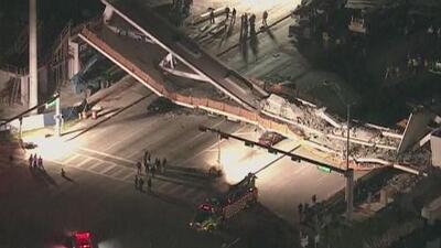 Cuatro muertes confirmadas por colapso de puente peatonal en Miami