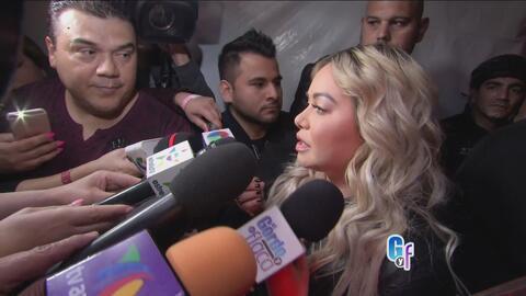 Alta tensión en presentación de Chiquis Rivera y hasta amenazan a nuestro reportero a la salida