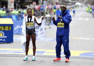 En fotos: así fue la fiesta de los nuevos reyes de la Maratón de Boston