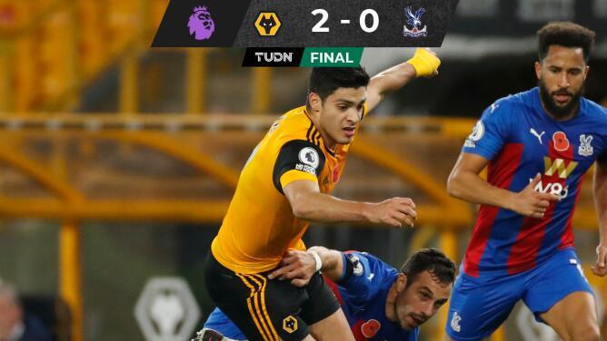 Wolves vence al Crystal Palace y es tercero de la Premier