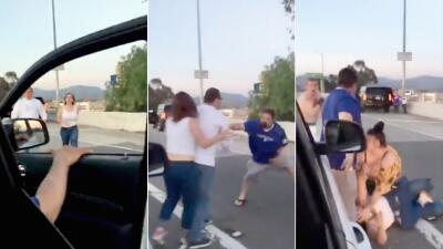 """En fotos: Los golpes y puños que repartió una pareja hispana porque supuestamente les dijeron """"frijoleros"""""""