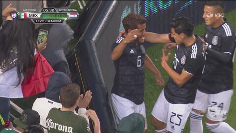 Jonathan dos Santos pone el 1-0 del Tri sobre Paraguay