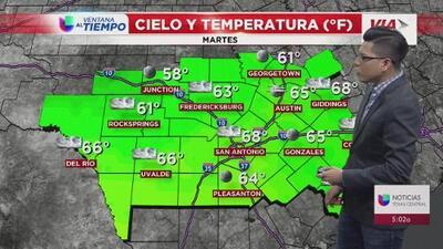 Se prevén lluvias ligeras en el centro de Texas este martes