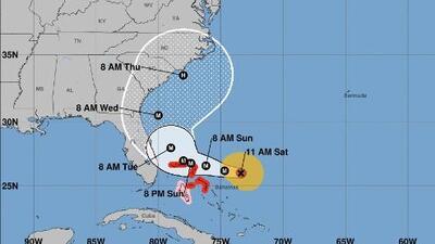 Miami-Dade  y Broward salen del cono de trayectoria del huracán Dorian