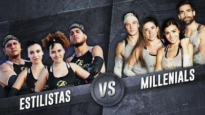 Estilistas vs. Millennials: con ilusión los dos equipos lucharon por pasar una noche en la Aldea