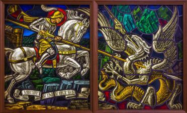 San Jorge, protector de los ataques del demonio