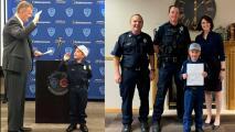 Niño con leucemia cumple su sueño de ser policía