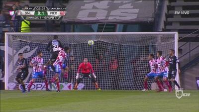 ¡Necaxa madruga a San Luis! Cabezazo y gol de Herrera