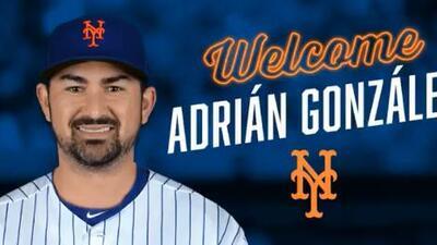 Adrián González llegó a un acuerdo para jugar con los Mets