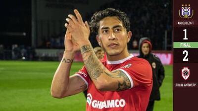 Omar Govea juega los 90' en la Liguilla del Royal Antwerp con victoria sobre el Anderlecht