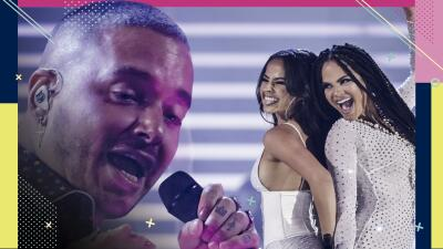 Becky G y Natti Natasha cantaron sin pijama, pero J Balvin se la puso y jura usarla 'forever'