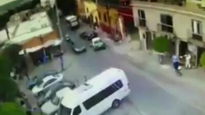 Video muestra el momento exacto en que el novio de Sharis Cid fue tiroteado al salir de su casa