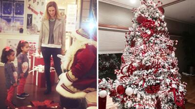 Las hijas de Jacqueline Bracamontes visitaron a Santa Claus