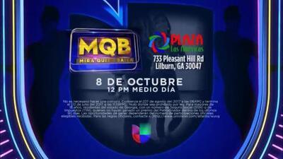 ¡Participa y acude a una gala de MQB en Univision Miami!