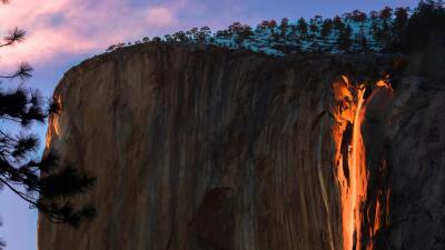 """La """"cascada de fuego"""" de Yosemite se hace viral"""