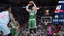 Boston se separa temprano en el partido y vence a Miami a domicilio
