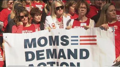 Manifestantes llegan al Capitolio estatal para pedir más apoyo en contra de las armas
