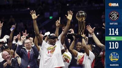 Toronto destrona a Golden State y es el primer campeón canadiense de la NBA
